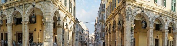 Historic center of Corfu Stock Photos