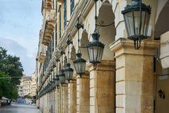 Historic center of Corfu Stock Photo