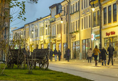 Historic center of Craiova at night Royalty Free Stock Image