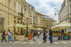 Historic Center of Craiova, Romania Royalty Free Stock Photos