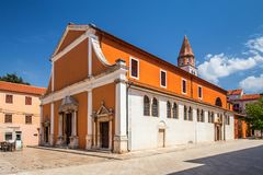 Historic center of the Croatian town of Zadar. stock photography