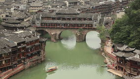 Historic Center Fenghuang stock video footage