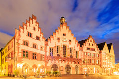 Historic Center of Frankfurt at dusk Stock Image