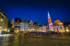 Historic Center of Frankfurt at dusk Royalty Free Stock Image