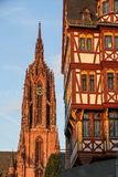 Historic center of Frankfurt Stock Images