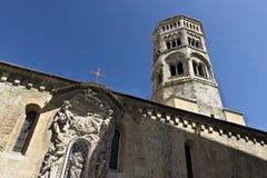 Genoa. Campanile della Chiesa di San Donato stock image