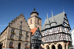 Historic center of the german city Alsfeld Stock Photos