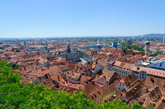 The Historic center of Graz in Austria royalty free stock images