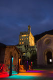The historic center of Gubbio at night Royalty Free Stock Photography