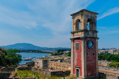 Historic center of Kerkyra town, Corfu Royalty Free Stock Images