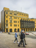 Historic Center of Lima in Peru Stock Image