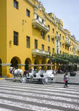 Historic Center of Lima in Peru Stock Photos