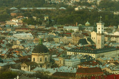 Historic center of Lviv Royalty Free Stock Photo