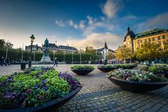 Malmo - October 22, 2017: Historic center of Malmo, Sweden. Historic center of Malmo, Sweden Stock Image