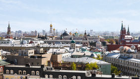Historic center of Moscow city with Kremlin Stock Photography