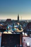 The historic center of Nuremberg.Germany. City nuremberg germany history sky roof old Royalty Free Stock Photo