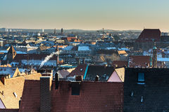 The historic center of Nuremberg.Germany. City nuremberg germany history sky roof old Stock Photos
