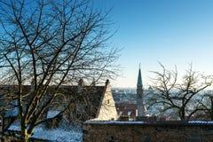 The historic center of Nuremberg.Germany. City nuremberg germany history sky roof old Royalty Free Stock Image
