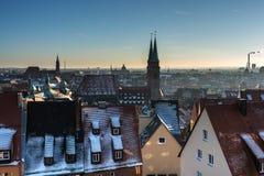 The historic center of Nuremberg.Germany. City nuremberg germany history sky roof old Stock Image