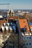 The historic center of Nuremberg.Germany. City nuremberg germany history sky roof old Stock Images