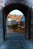 The historic center of Nuremberg.Germany. City nuremberg germany history sky roof old Stock Photography