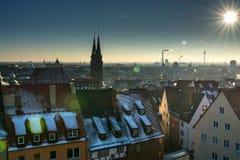 The historic center of Nuremberg.Germany. City nuremberg germany history sky roof old Royalty Free Stock Photos