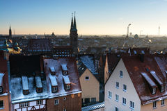 The historic center of Nuremberg.Germany. City nuremberg germany history sky roof old Royalty Free Stock Images