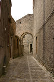 Historic center of old Erice  Stock Images