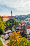 The historic center and old town of Czech Krumlov royalty free stock photography