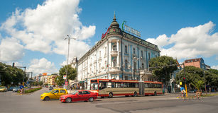 The historic center of old Varna Stock Image