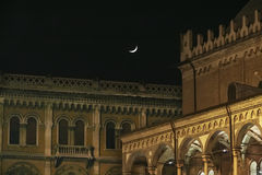 The historic center of Padua at night Stock Photography