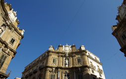 Historic center of palermo Stock Photography