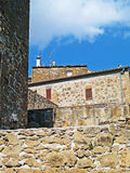 Historic center of Pitigliano, the tuff city, Tusc Royalty Free Stock Photos