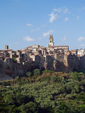Historic center of Pitigliano, the tuff city, Tusc Royalty Free Stock Photography