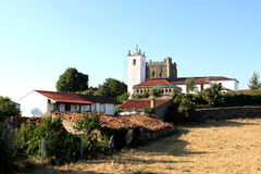 Historic center of the Portuguese town of Braganca Royalty Free Stock Photo