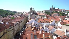 The historic center of Prague stock footage