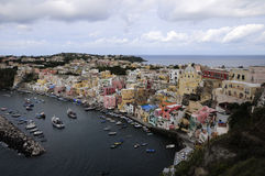 The historic center of Procida, Italy Royalty Free Stock Photography