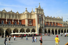 Historic center The Renaissance Sukiennice in Krakow Stock Image