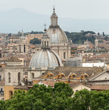 The historic center of Rome seen from Castel Sant& x27;Angelo. Roma Royalty Free Stock Photography