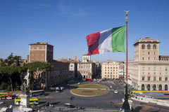 The historic center of Rome Stock Photo