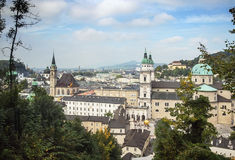 The historic center of Salzburg, Austria Royalty Free Stock Photos