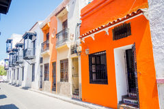 Historic center in Santa Marta, caribbean city Royalty Free Stock Photos