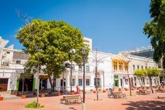 Historic center in Santa Marta, caribbean city royalty free stock images