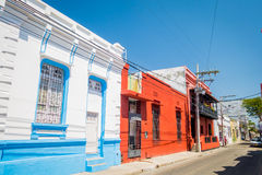 Historic center in Santa Marta, caribbean city Royalty Free Stock Photo