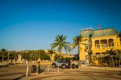 Historic center in Santa Marta, caribbean city Royalty Free Stock Image