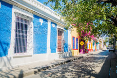 Historic center in Santa Marta, caribbean city Stock Images