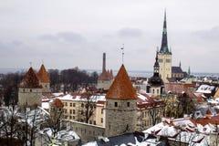 The historical center of Tallinn stock photo