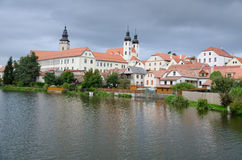 Historic center of Telc, Czech republic Royalty Free Stock Photography