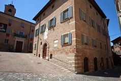 Historic center of Urbino Stock Photo