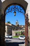 Historic center of Uzes Stock Photos